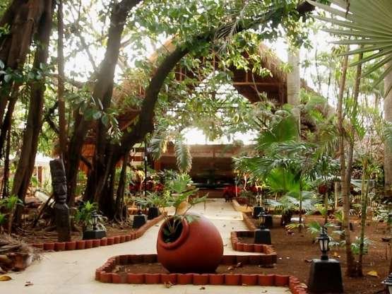 Áreas pobladas de vegetación tropical y construcciones criollas de bajo puntal.